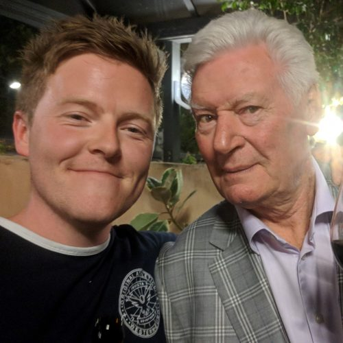 Craig with Roy Walker on the 100 Years Set