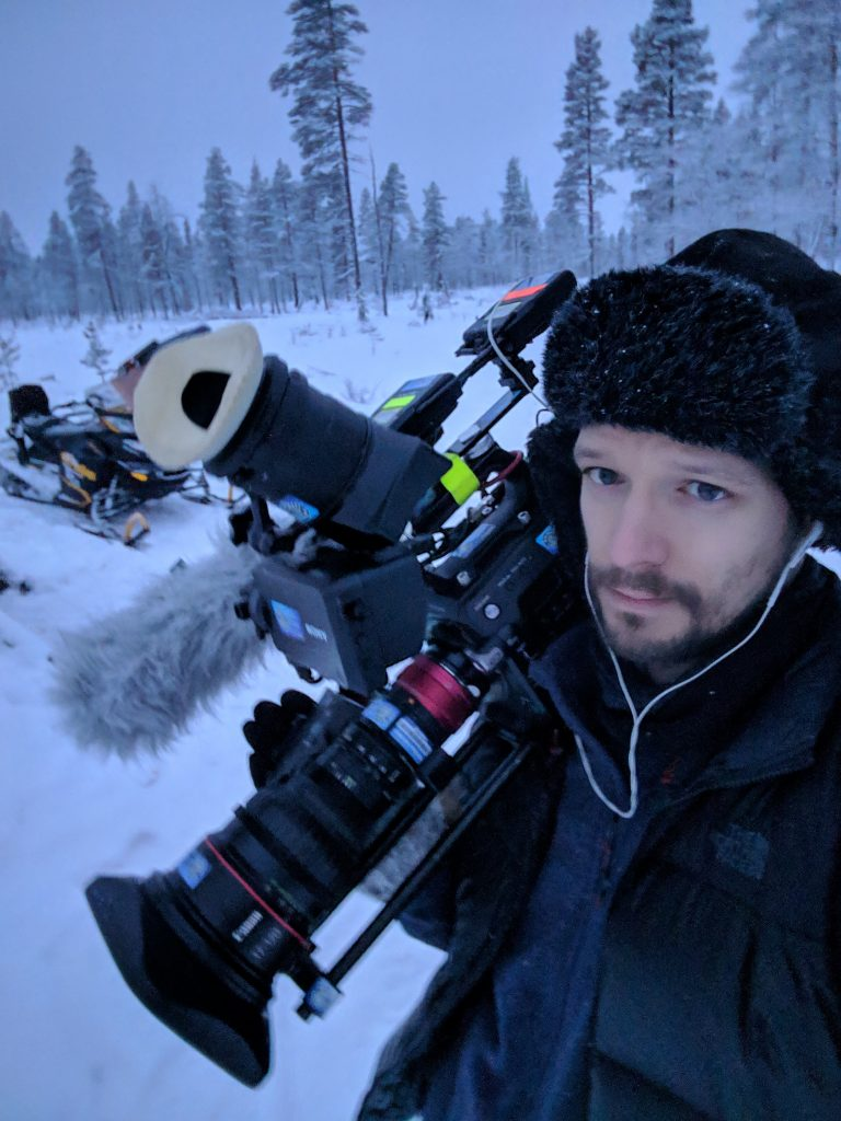Andrew on location in Lapland