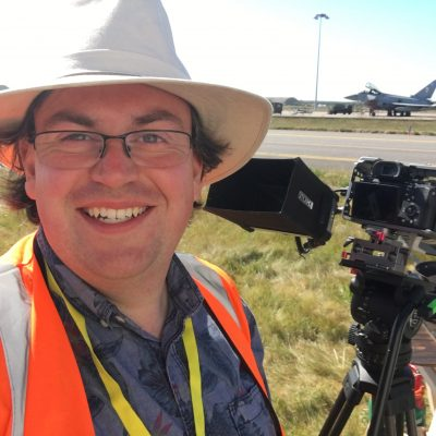 James on location at RAF Lossiemouth
