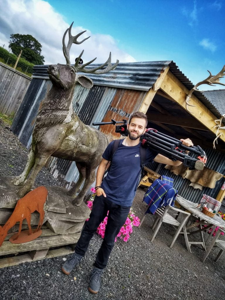 Steve on location for James Martin's Island to Highlands
