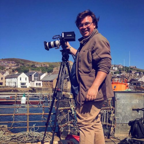 James on location in Scotland